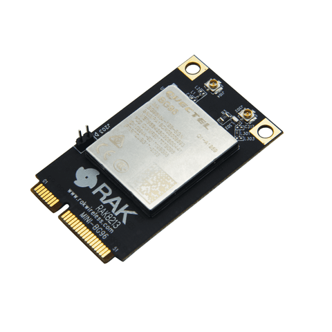 RAK Wireless Click Wireless Connectivity RAK8213 BG96 based Mini PCIe Cellular IoT module 4G, LTE Cat-M1, NB-IoT