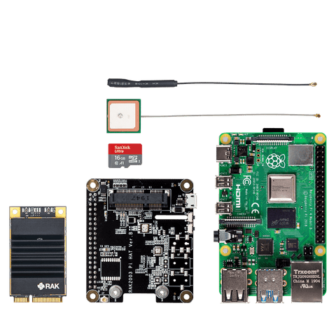 RAK Wireless Gateway RAK Wireless LoRaWAN Developer IoT Kit Raspberry Pi 4 & GPS