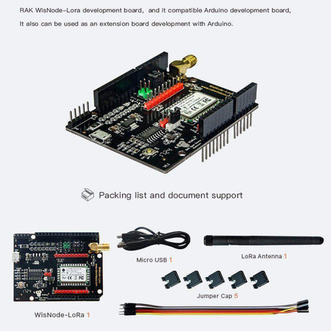 RAK Wireless LoRa Board WisNode LoRaWAN Module - Arduino Compatible with LoRaWAN Development Board