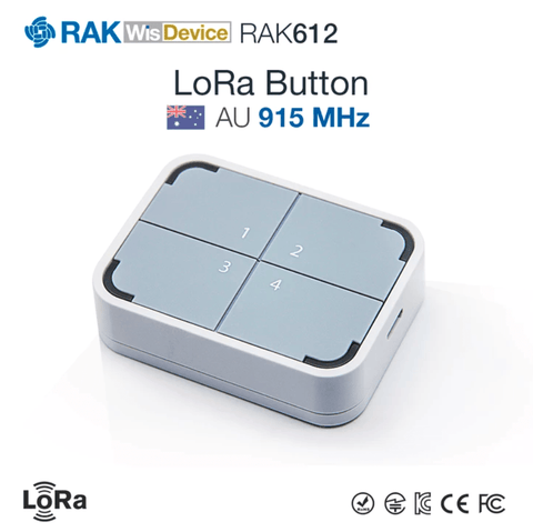 RAK Wireless LoRa IoT LoRa/LoRaWAN Smart IoT Button with Node-RED