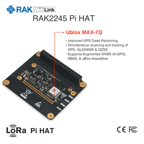 RAK2245 Pi HAT LoRaWAN module 8 Channels for Raspberry Pi