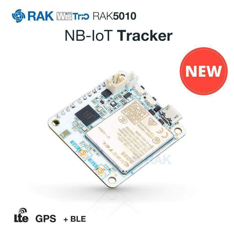 RAK Wireless Tracking Device RAK5010 NB-IoT & LTE CAT-M1 Tracker BG96, GPS, BLE