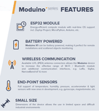 TECHBASE Industrial IoT Module Moduino X1 (WiFi & BLE4.2) Moduino ESP32 Industrial IoT Module Energy-Efficient Automation Controller