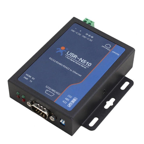 USR IOT IoT Comms RS232/RS485/RS422 Single Serial Ethernet Converter - USR-N510
