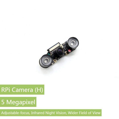 Waveshare Camera RPi Camera 5MP OV5647 Fisheye Lens 1080p Supports Night Vision