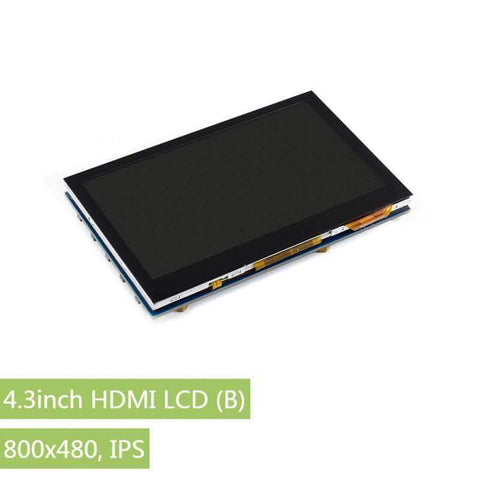 Waveshare Touch Display 4.3 Inch HDMI LCD (B), 800x480, Capacitive Touch Screen IPS