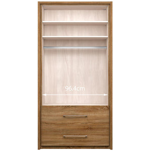 Gratia 2 Door Mirror Wardrobe & Cupboard