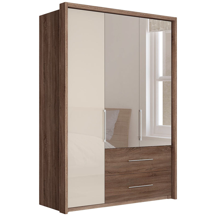 Gratia Glass & Mirror Wardrobe & Cupboard