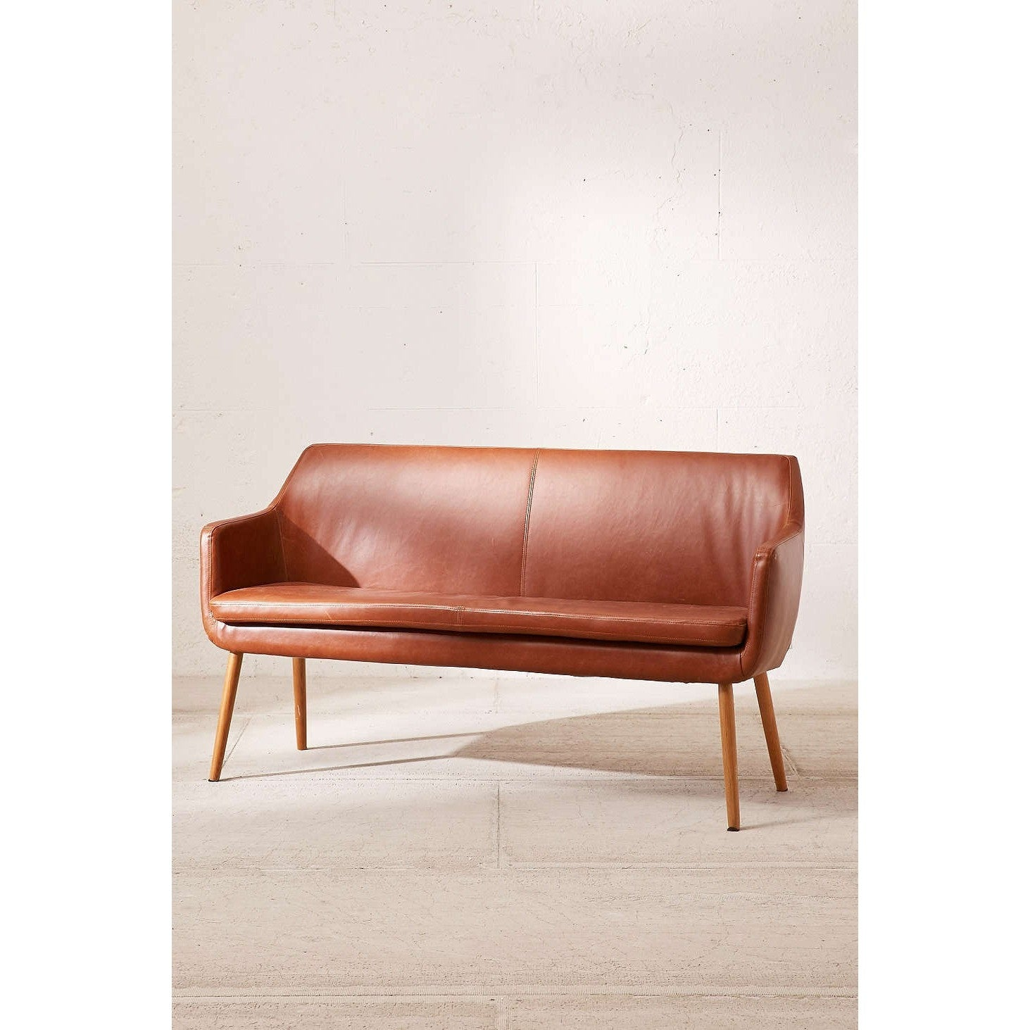 Joey Faux Leather Sofa