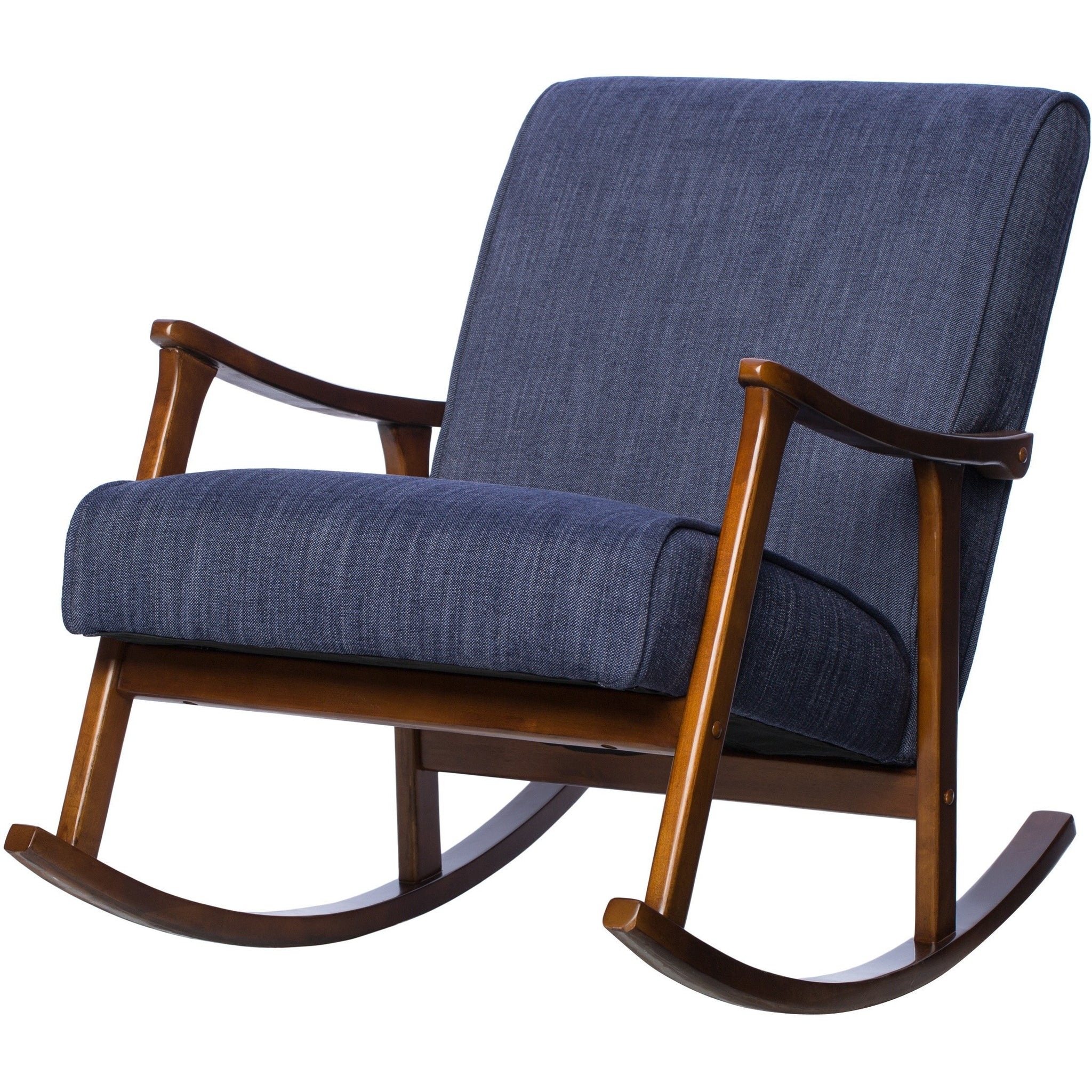 wooden rocking chair. Violet Upholstered Wooden Rocking Chair Y
