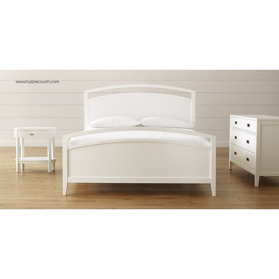 Astrid White Wooden Bed