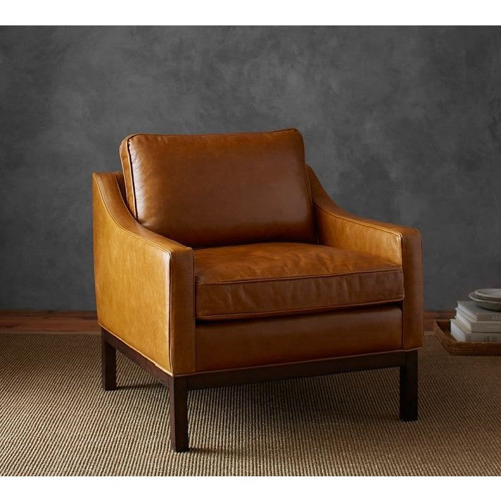 Lucy Faux Leather Upholstered Armchair