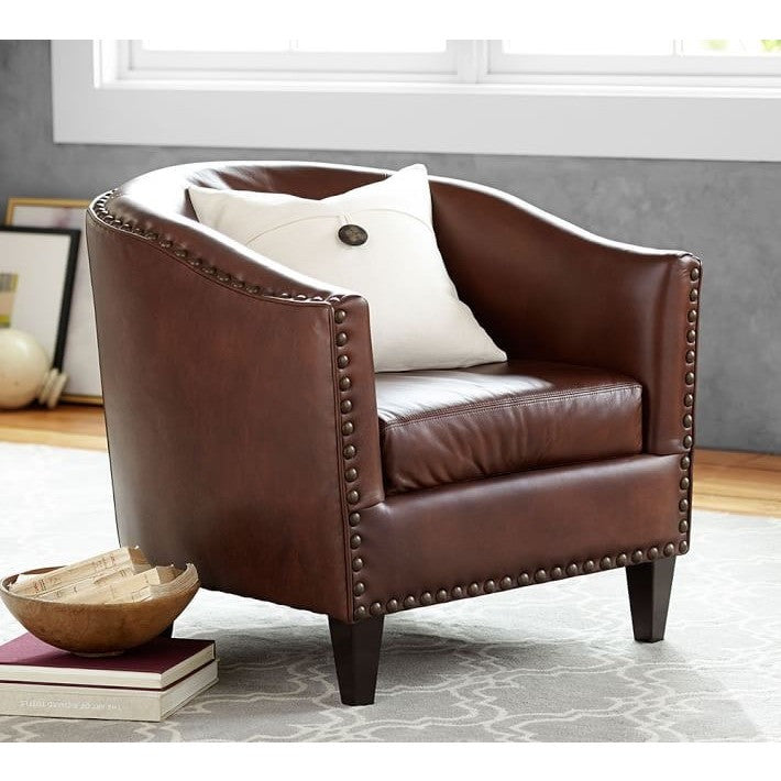 Frank Faux Leather Upholstered Armchair, , Armchair/Faux Leather, Techprogear Furniture Techprogear