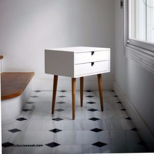 Oslo Duo White Bedside table