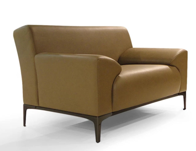 Sleek Faux Leather Armchair