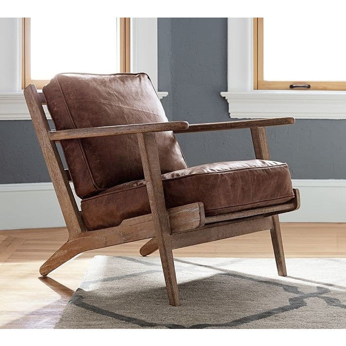 Rustic Faux Leather Upholstered Armchair, , Armchair/Faux Leather, Techprogear Furniture Techprogear
