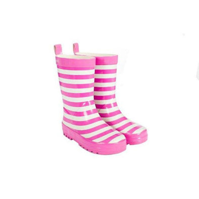 Stripe Gumboot - Pink
