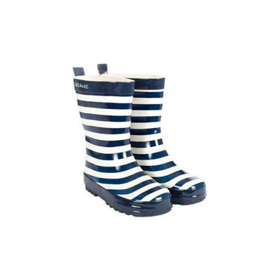 Stripe Gumboot - Blue