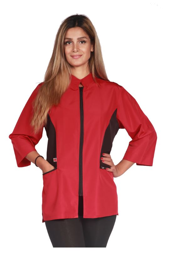 Ladybird Color Block Jacket - Red