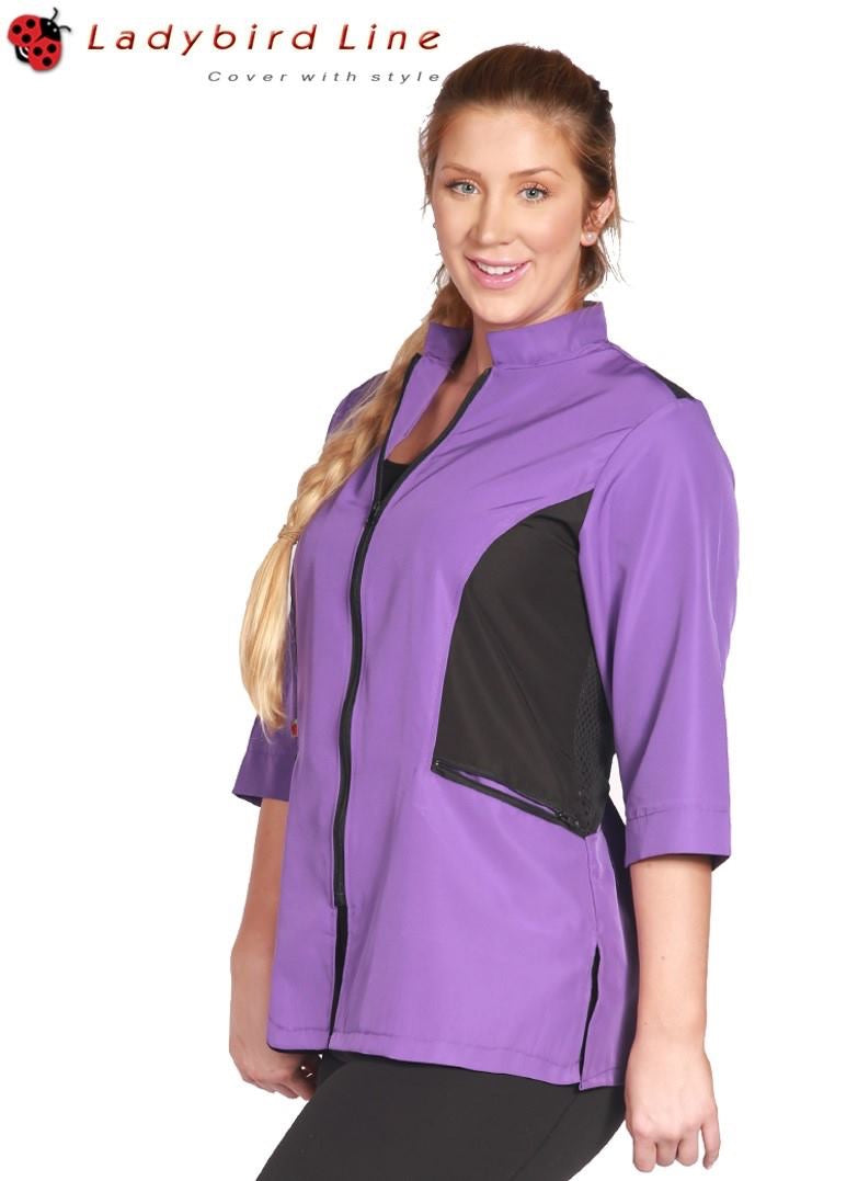 Ladybird Color Block Jacket - Purple