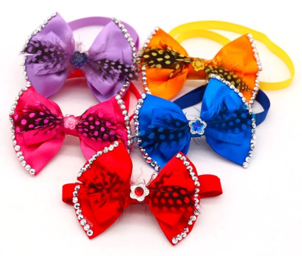 Feather & Rhinestone Bowties