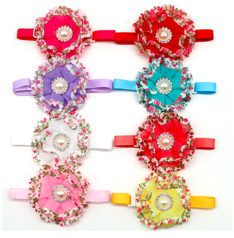 Ruffles &  Bling Flower Collars