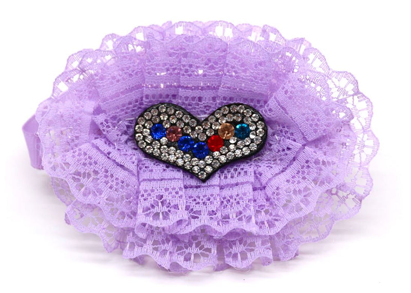 Glitter & lace oval collars
