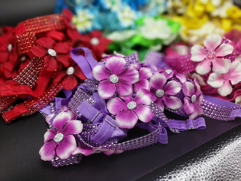 Sparkle Wrap Collars- Flower Power collection