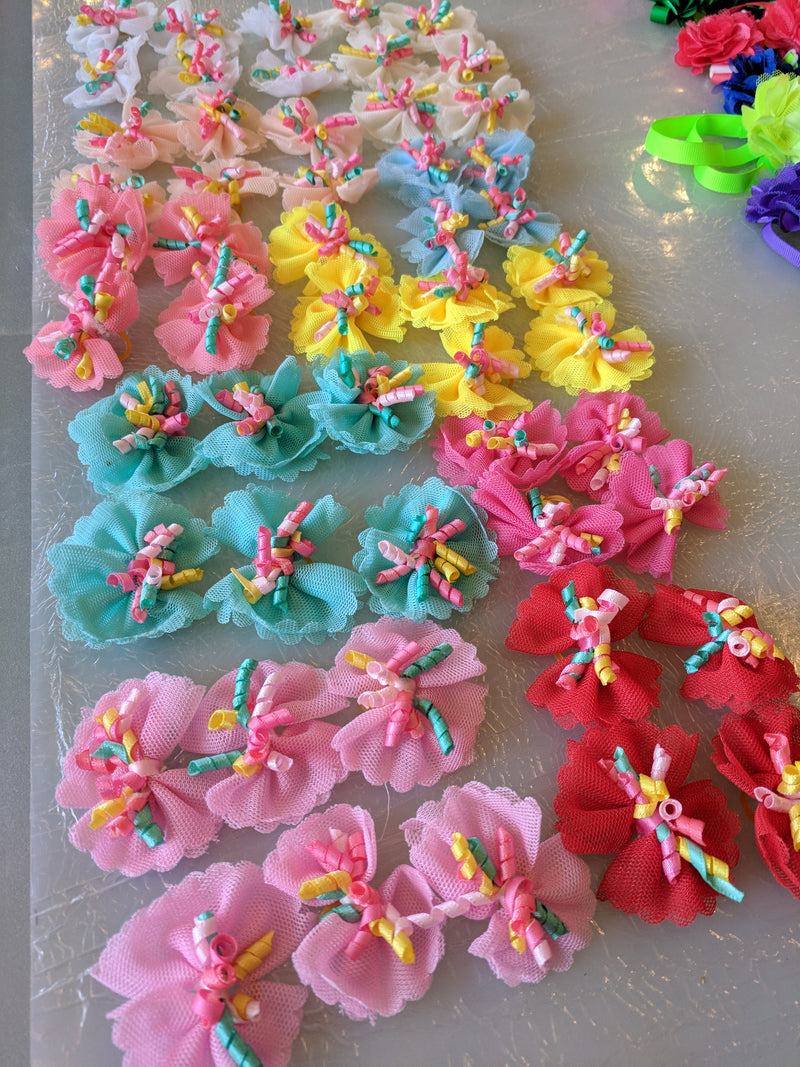 Tule & Curly Ribbon Bows