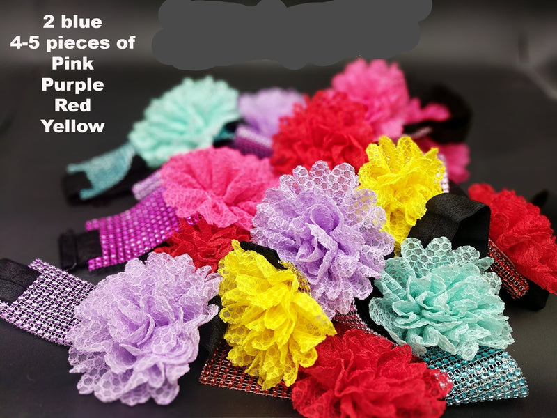 Sparkle Wrap Collars- Lace Flower collection