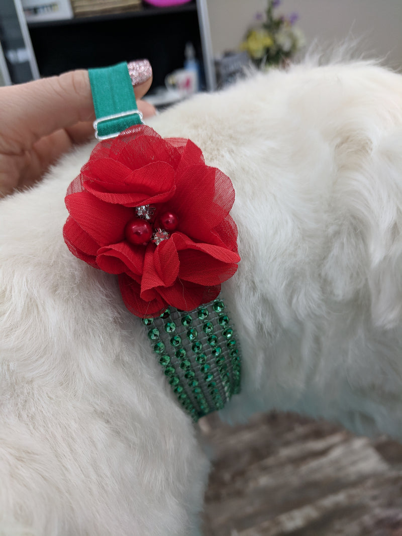 Holiday Sparkle wrap collars
