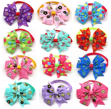 Double Bow Collar- Bugs/Dots/Flowers