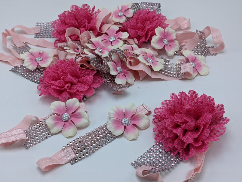 Sparkle Wrap Collars- Flower & Lace mix