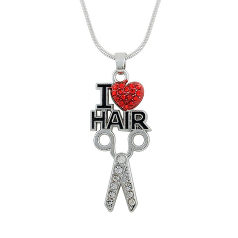 I LOVE Hair necklace