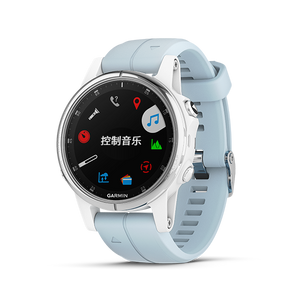 Fenix 5S Plus Silver with Sea foam Silicone Band 中英文版