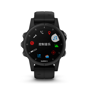 [Demo Unit] Fenix 5S Plus Sapphire Black with Silicone Band 中英文版 010-01987-79