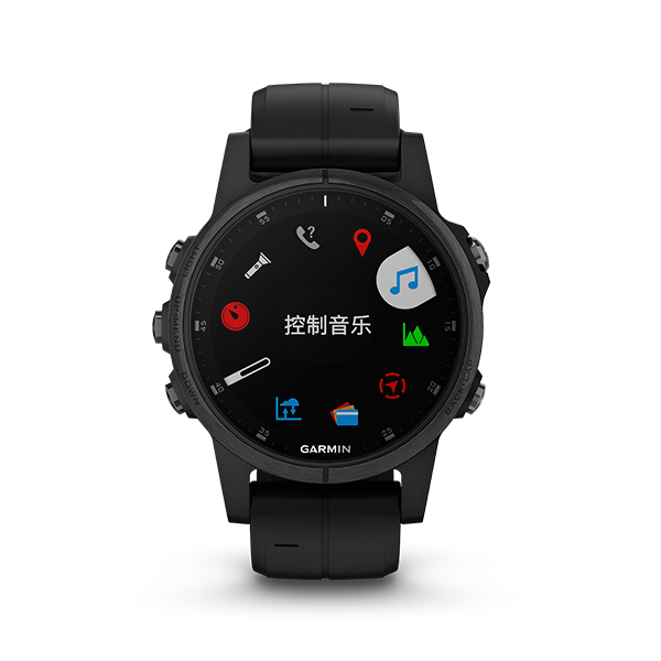 Fenix 5S Plus Sapphire Black with Silicone Band 中英文版
