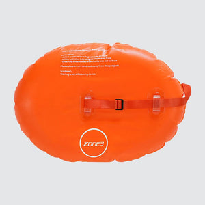 ZONE 3 ON THE GO SWIM SAFETY BUOY & DRY BAG, ORANGE