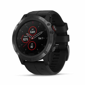 Fenix 5X Plus Sapphire DLC Gray with Black Silicone Band 中英文版