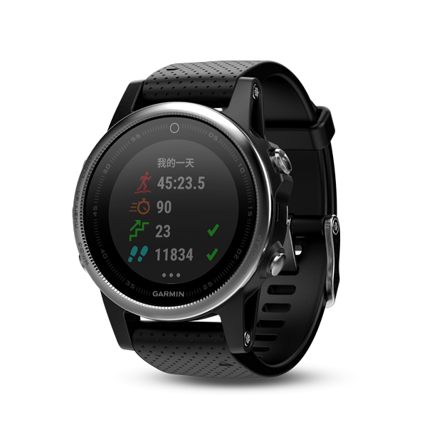 [Demo Unit] Fenix 5S Black Silver 中英文版 010-01685-42