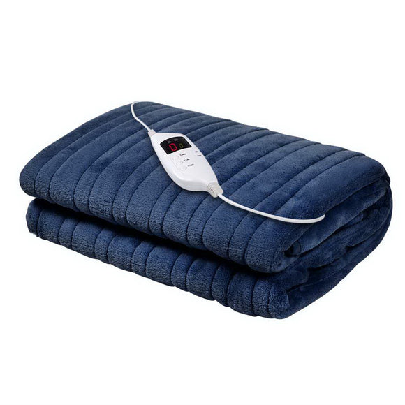 Electric Throw Rug in Navy