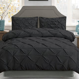 Black Diamond Pintuck Quilt Cover Set