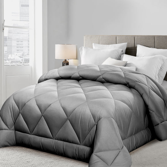 Bamboo Microfibre Quilt in Grey - 400gsm