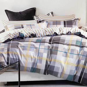 Plaid Quilt Cover Set