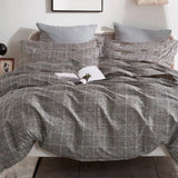 Grid Cotton Quilt Cover Set