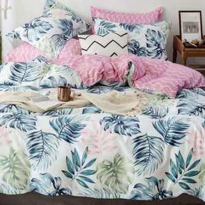 Palm Leaf Quilt Cover Set