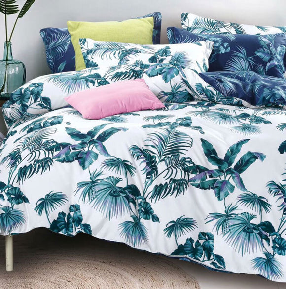 Tropical Plant Quilt Cover Set