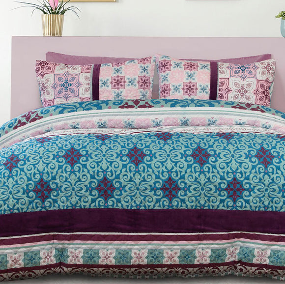 Embossed Anemone Quilt Cover Set