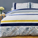Embossed Paisley Quilt Cover Set