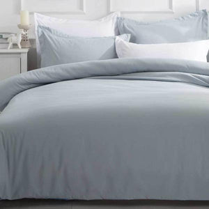 King Size Blue Fog Quilt Cover Set (3PCS)